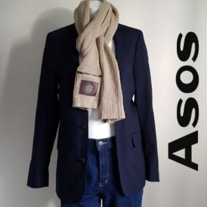 "ASOS Two Buttons Blue Blazer - Size 32"" Reg"